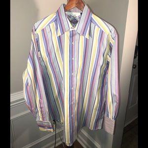 ROBERT GRAHAM L/S Striped Shirt w/ Flip Cuff